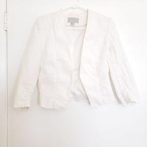 🎀H&M Linen White Blazer Jacket